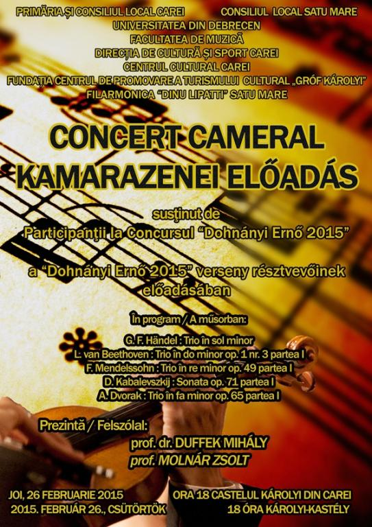Afis Filarmonica concert cameral press